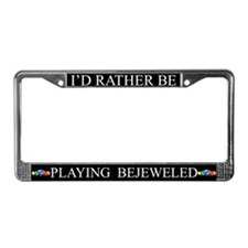 Black I'd Rather Be Playing Bejeweled Frame