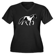 BnW SSH Women's Plus Size V-Neck Dark T-Shirt