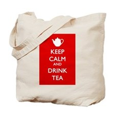 Cute Keep calm drink tea Tote Bag