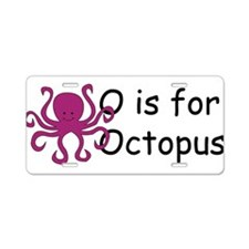 O is for Octopus Aluminum License Plate