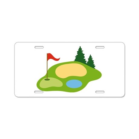 Golf Course Golfing License Plate