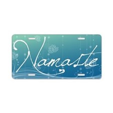 Namaste Aluminum License Plate