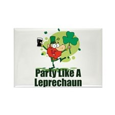 Party Like A Leprechaun Rectangle Magnet (100 pack