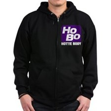 Hottie Body Zip Hoodie (dark)