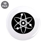 "Atom - White 3.5"" Button (10 pack)"