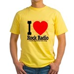 I Love Rock Radio Yellow T-Shirt