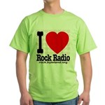 I Love Rock Radio Green T-Shirt