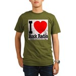 I Love Rock Radio Organic Men's T-Shirt (dark)