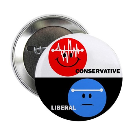 "Conservative - Liberal 2.25"" Button (100 pack)"