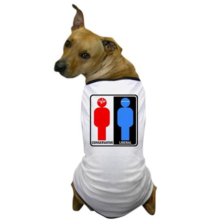 Conservative - Liberal Dog T-Shirt