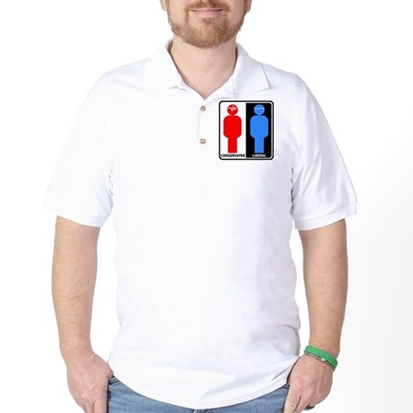 Conservative - Liberal Golf Shirt