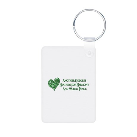 Godless For World Peace Aluminum Photo Keychain
