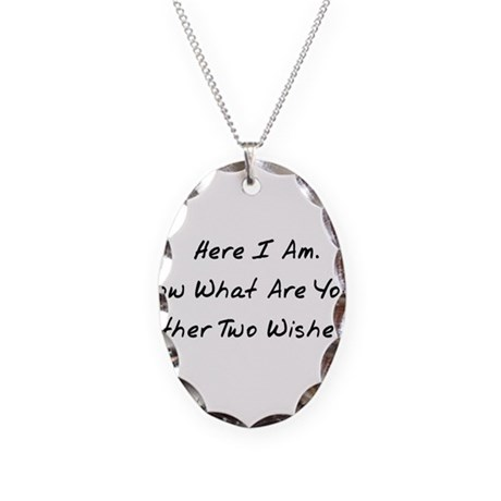 Three Wishes Necklace Oval Charm