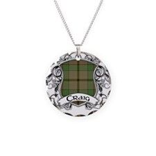 Craig Tartan Shield Necklace Circle Charm