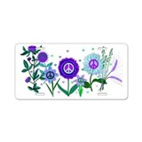 Peace Garden Aluminum License Plate