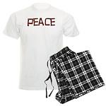 Anti-war Peace Letters Men's Light Pajamas
