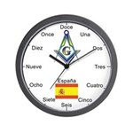Spanish Mason Masonic Wall Clock