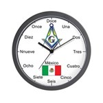 Mexican Mason Masonic Wall Clock