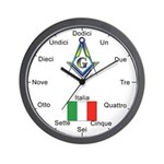 Italian Mason Masonic Wall Clock