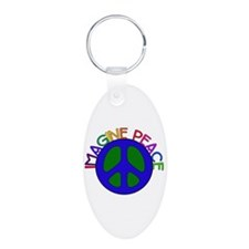 Imagine Peace Keychains