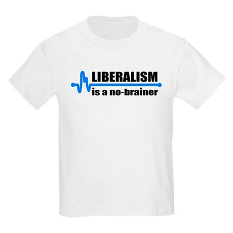 Liberalism - no brainer Kids T-Shirt