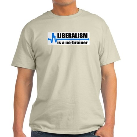 Liberalism - no brainer Ash Grey T-Shirt