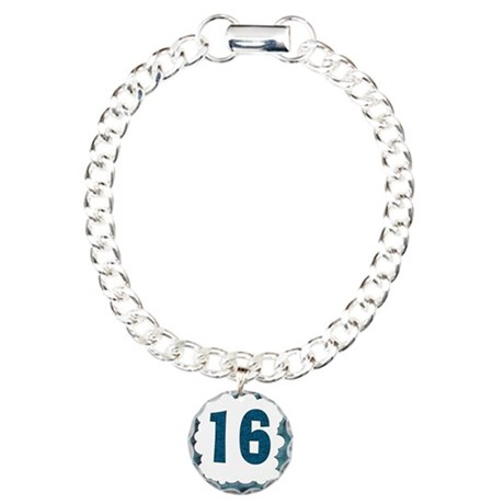 16th Birthday T-Shirts Charm Bracelet, One Charm