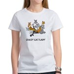 Cat Women's White T-Shirts