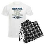 Organ Donor Men's Light Pajamas
