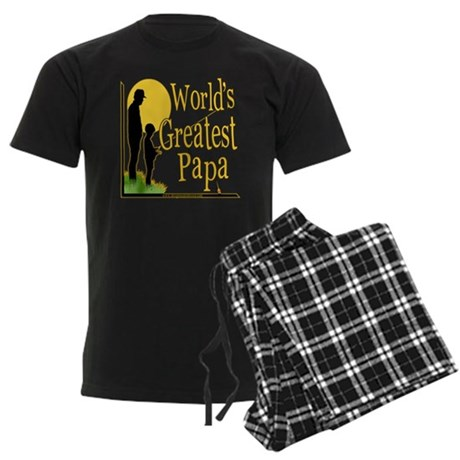 World's Greatest Papa Men's Dark Pajamas