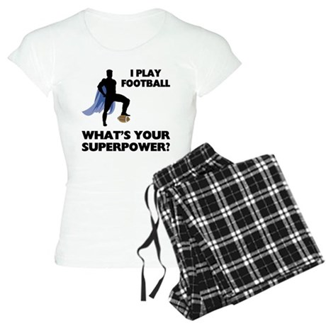 Football Superhero Women's Light Pajamas