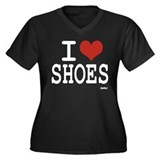 I LOVE SHOES Women's Plus Size V-Neck Dark T-Shirt
