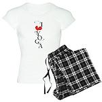 I heart YOGA Women's Light Pajamas