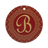 Monogrammed Letter B Regal Ornament (Round)