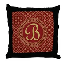 Monogrammed Letter B Regal Throw Pillow