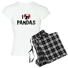 I Love Pandas pajamas
