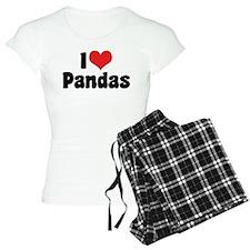 I Love Pandas 2 pajamas