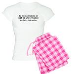 To Snowmobile or Not... Women's Light Pajamas