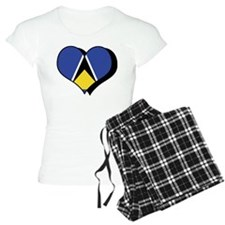 I Love Saint Lucia Pajamas