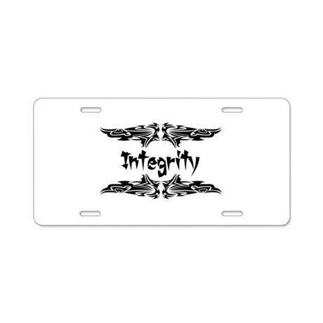 Martial Arts Integrity Aluminum License Plate