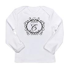 Letter C Initial Monogram Long Sleeve Infant T-Shi