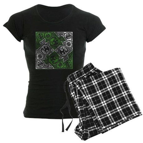 Celtic Puzzle Square Women's Dark Pajamas