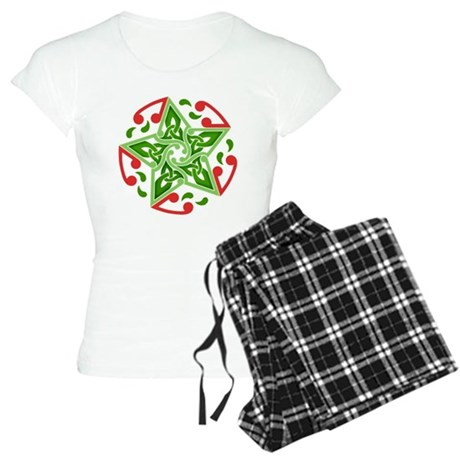 Celtic Christmas Star Women's Light Pajamas
