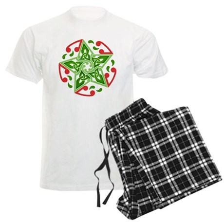Celtic Christmas Star Men's Light Pajamas
