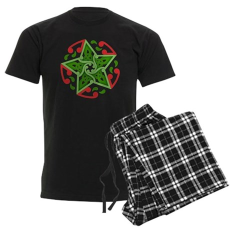 Celtic Christmas Star Men's Dark Pajamas