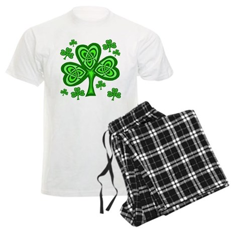 Celtic Shamrocks Men's Light Pajamas