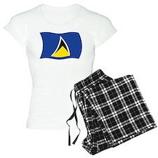 Saint Lucia Flag Pajamas