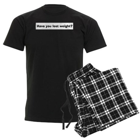 Have You Lost Weight? Men's Dark Pajamas