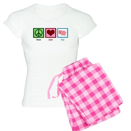Peace Love Pigs Women's Light Pajamas
