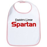Daddy's Little Spartan Bib